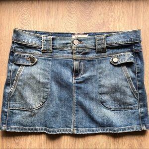 PAIGE premium denim mini skirt in fountain ave 27